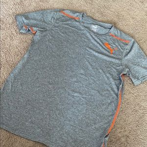 Small Gray and Orange Puma T-shirt